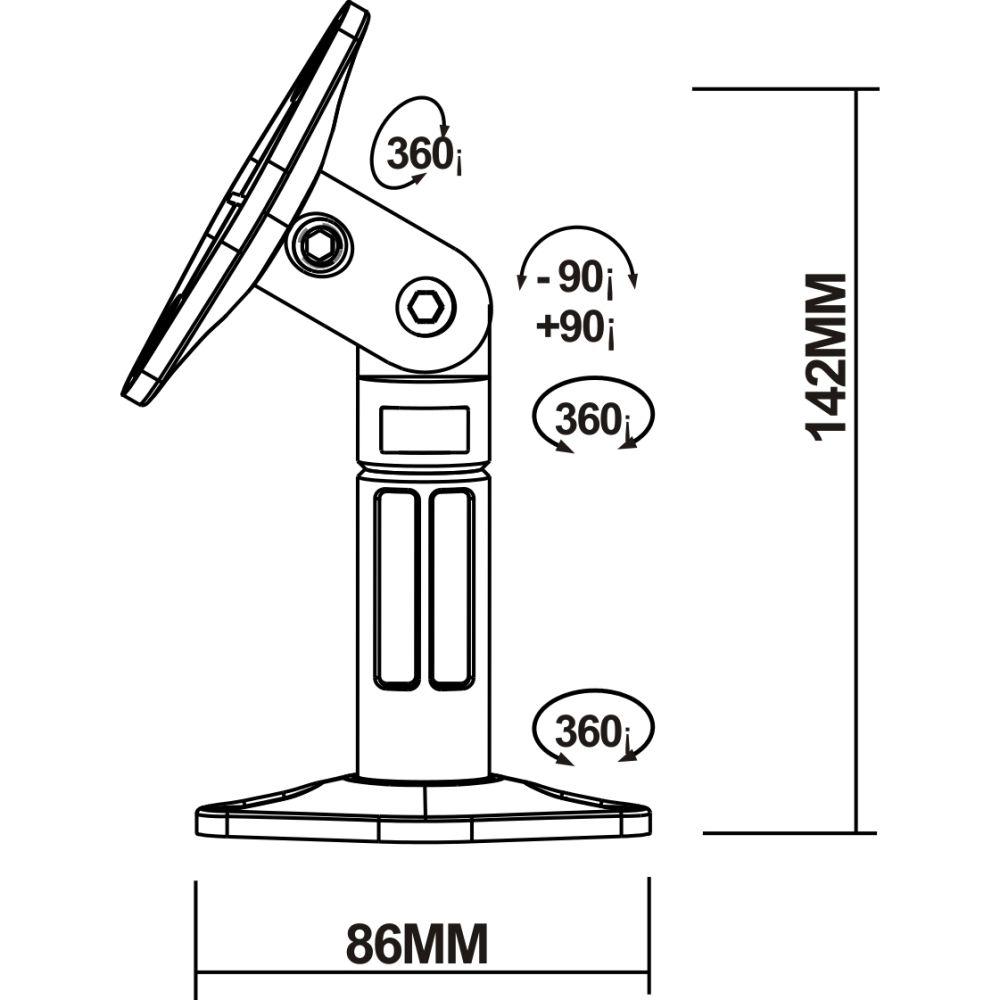 23180 supporto diffusori musicali misure tecniche