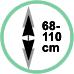Altezza da soffitto 68-110 cm.