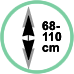 Altezza regolabile da 68-110 cm.