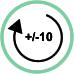 Rotazione supporto +/- 10°
