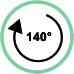 Rotazione massima 140°