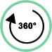Rotazione massima 360°