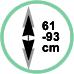 Altezza da soffitto tra 61 e 93 cm.
