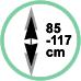 Altezza da soffitto staffa proiettore da 85 a 117 cm