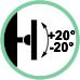 Inclinazione supporto +20° / -20°