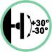 Inclinazione supporto +30° / -30°
