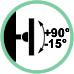 Inclinazione supporto +90° / -15°