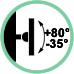 Inclinazione supporto +80° / -35°