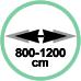 Estensione minima 80 cm massima 120 cm