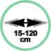 Estensione minima 15 cm massima 120 cm