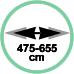 Estensione minima 47,5 cm massima 65,5 cm