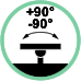 Rotazione laterale supporto +90° / -90°