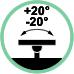 Rotazione laterale supporto +20° / -20°