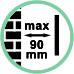 Distanza da parete max 9 cm.