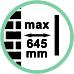 Distanza da parete max 64,5 cm