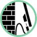Fissaggio con cavo sicurezza di acciaio