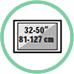 """Dimensione tv / monitor da 32 a 50"""""""