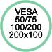 Standard Vesa da 50x50 a 200x100
