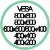 Standard Vesa da 400x200 a 800x800