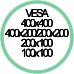 Standard Vesa da 100x100 a 400x400