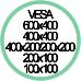 Vesa Max 600x400 400x400 400x200 200x200 200x100 100x100