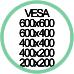 Standard Vesa da 200x200 a 600x600