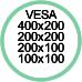 Vesa Max 400x200 200x200 200x100 100x100