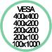 Vesa Max 400x400 400x200 200x200 200x100 100x100