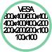 Vesa Max 800x400 600x400 400x400 400x200 200x200 200x100 100x100