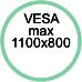 Standard Vesa max. 1100x800