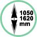 Estensione 105 - 162,5 cm