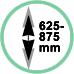 Altezza da soffitto 62,5 - 87,5 cm