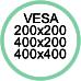 Standard Vesa da 200x200 a 400x400