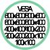 Standard Vesa da 100x100 a 800x800