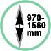 Estensione 97 - 156 cm