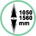 Estensione 105 - 156 cm