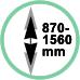 Estensione 87 - 156 cm