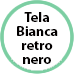 icona bollino tela bianca retro nero