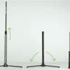 Coppia di stativi tv stand per schermo a cornice Aries inferiori a 500 cm
