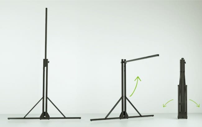 Coppia di stativi tv stand per schermo a cornice Aries 500 600 700 cm.