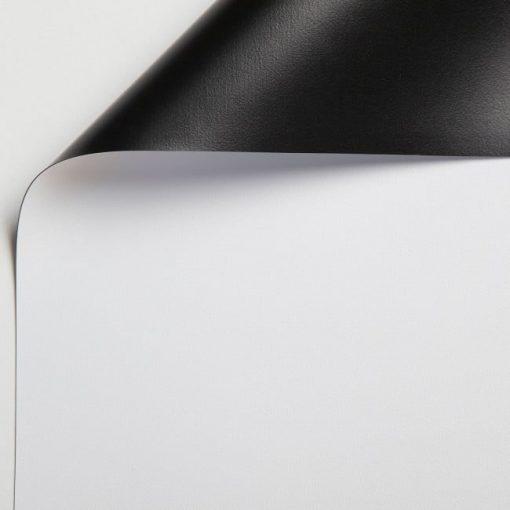 Tela bianca retro nero