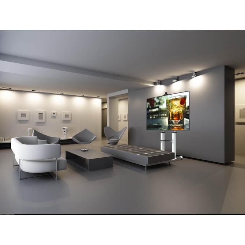 TV stand regolabile in altezza per schermi di grandi dimensioni
