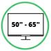 "Monitor 50 -65"""
