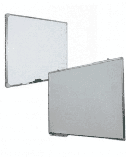 Lavagna magnetica bianca 90x60 in acciaio preverniciato