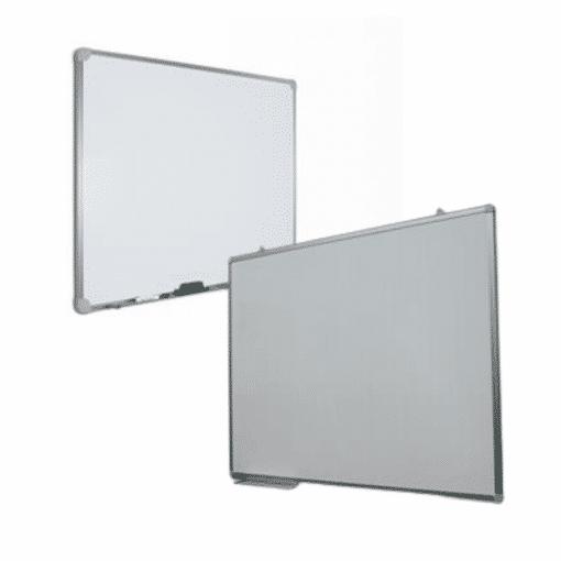 Lavagna magnetica bianca 90×60 in acciaio preverniciato